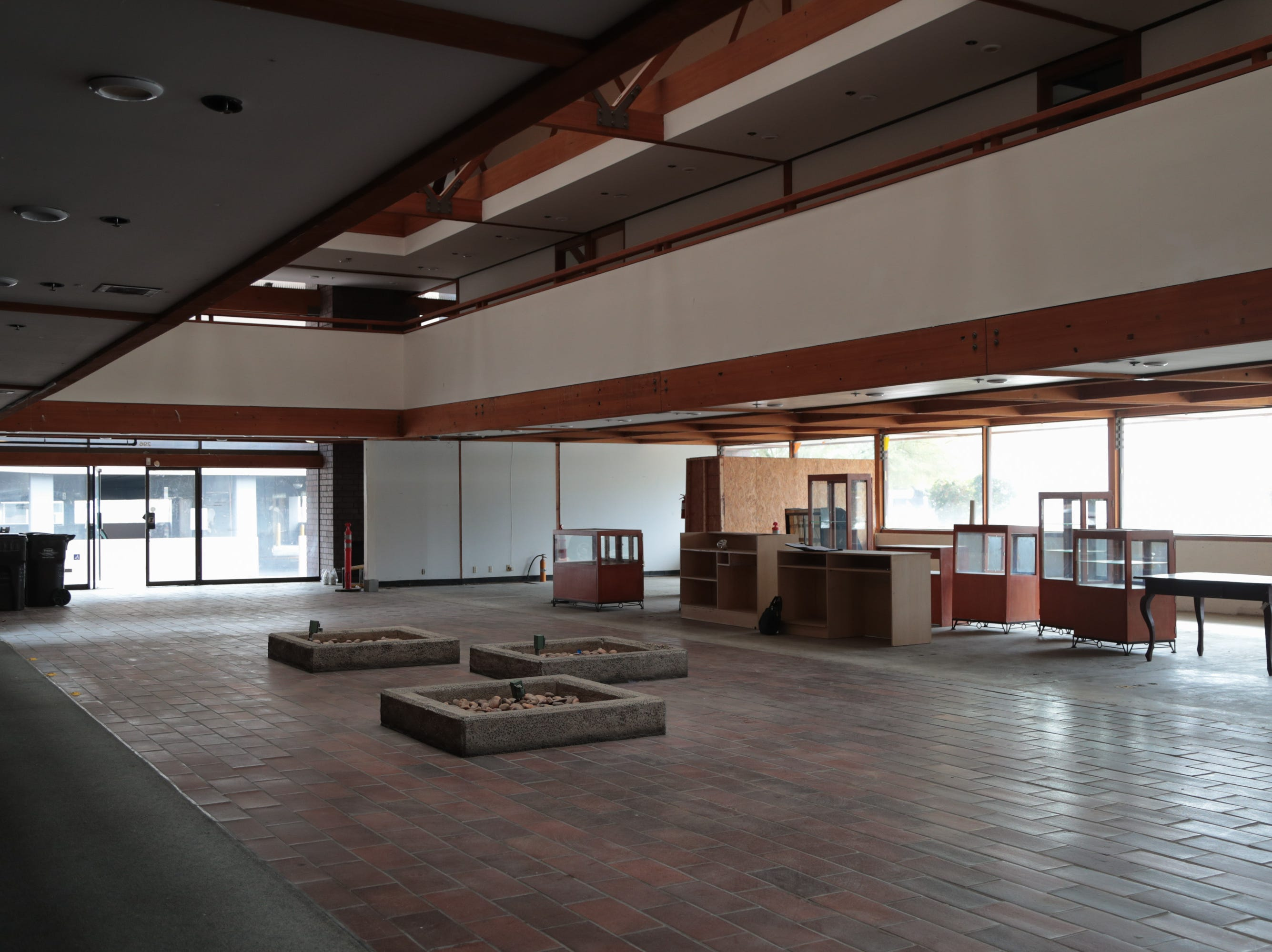 A cannabis lounge will be moving into a former bank building in downtown Palm Springs, Calif., January 16, 2018.