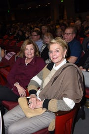 (l-r) Mary Chase and Festival Board member and philanthropist Donna MacMillan at the Closing Night Screening.