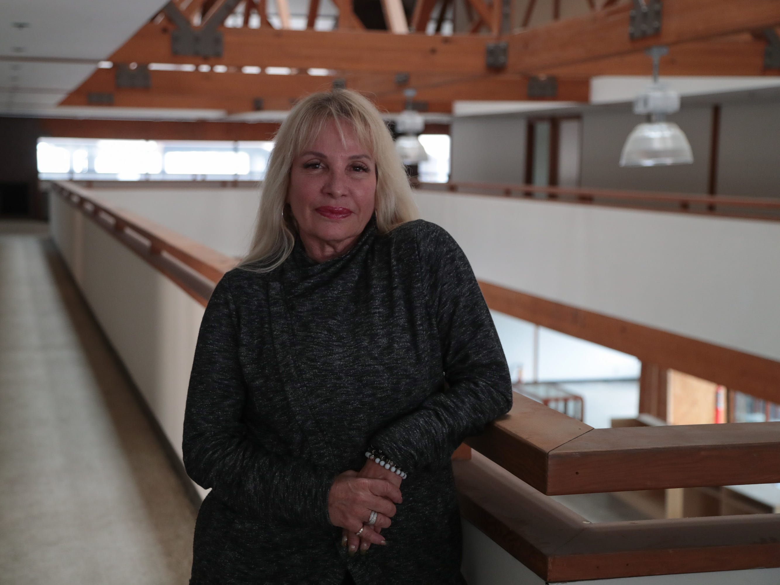 Julie Montante will be opening a cannabis lounge in a former bank building in downtown Palm Springs, Calif., January 16, 2018.