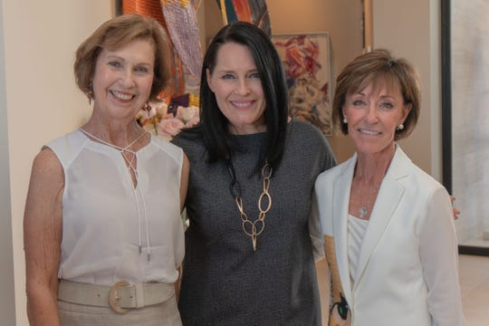 Guild president Susan Linsk, Assistant Vice President from Loma Linda University Children's Hospital Foundation Jillian Payne and Patty Matarrese