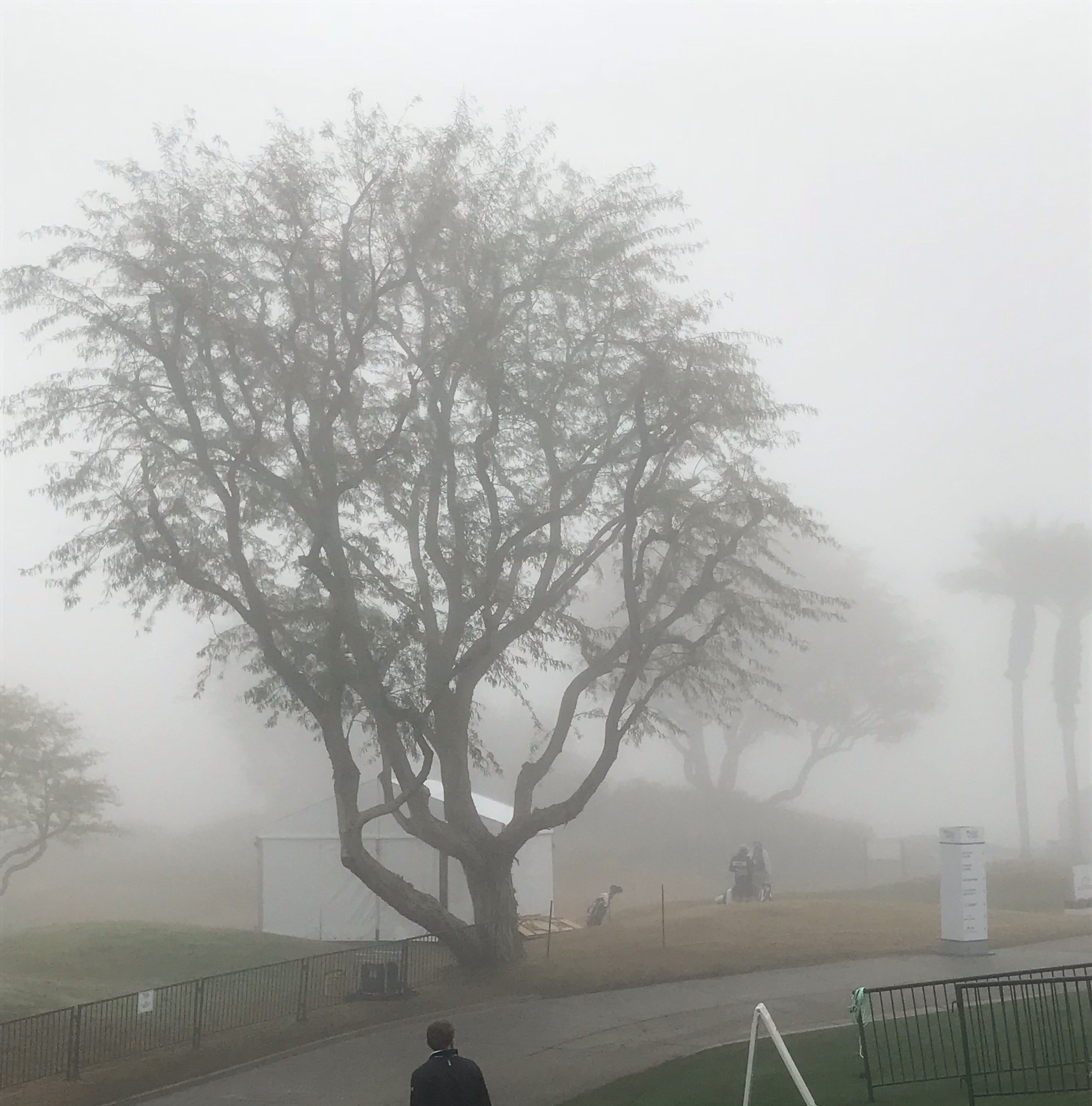 Heavy fog delays first round of Desert Classic; tee times moved back for all 3 courses