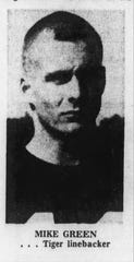 Pensacola High linebacker Mike Green in the fall of 1968.