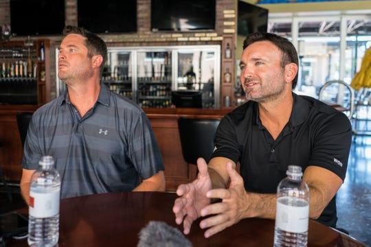 Matt Lafon, left, and Scott Zepp are co-owners of Pensacola World of Beer.