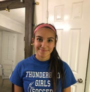 Lexy Aguilar of Thunderbird High School girls soccer team