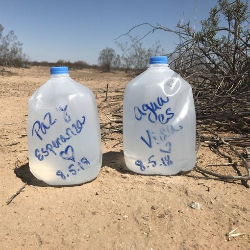 Arizona: Where leaving water for the thirsty is a crime