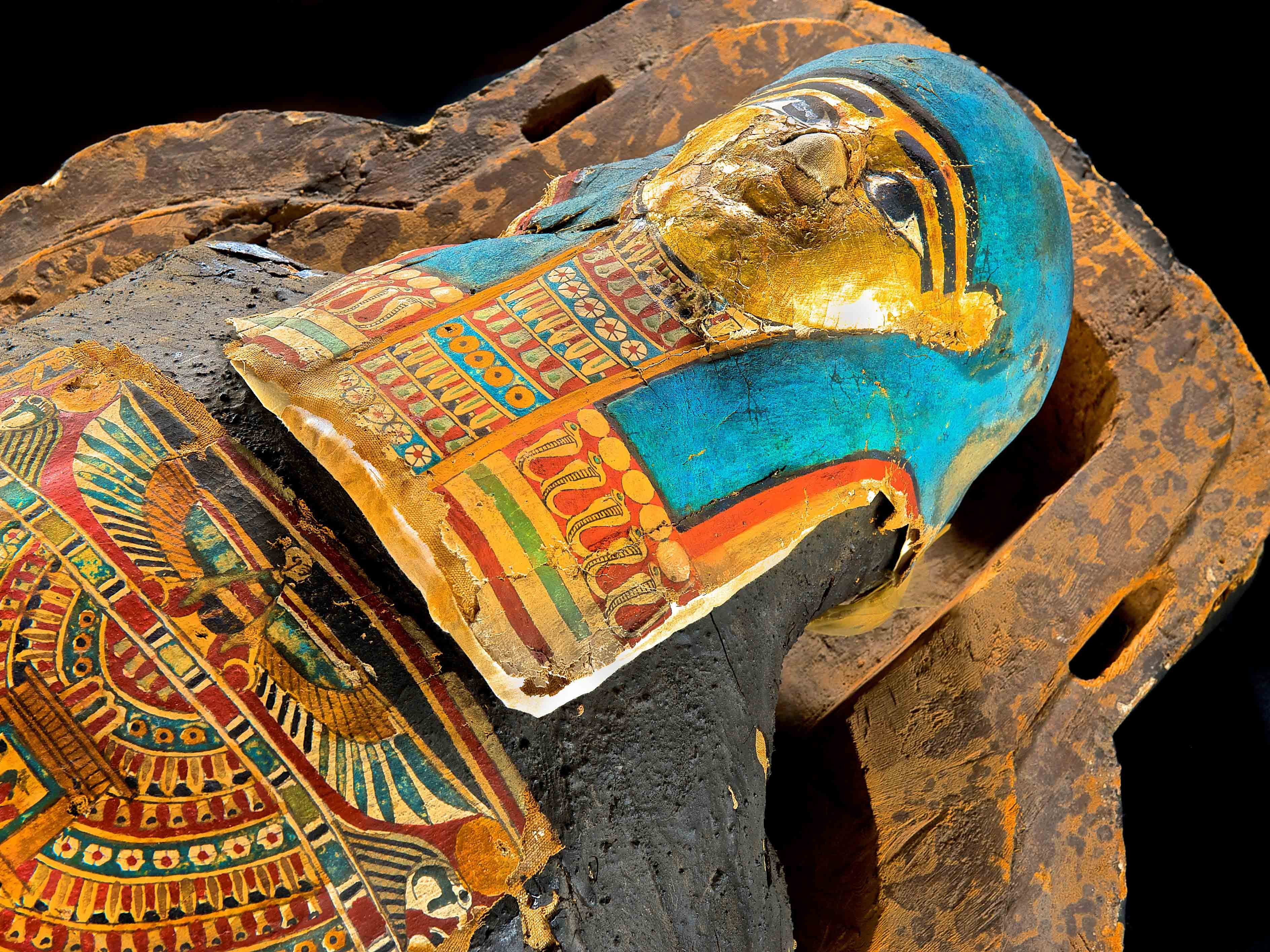 Nes Hor is among the Mummies of the World: The Exhibition items on display at the Arizona Science Center.