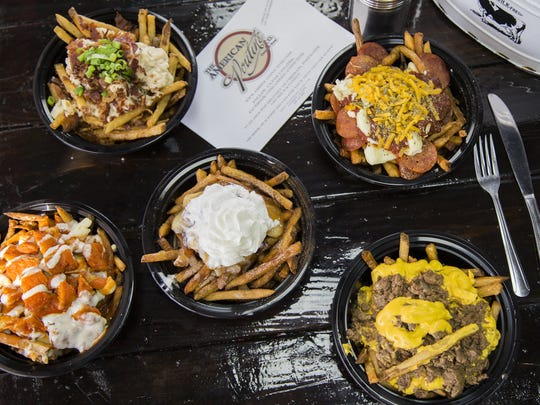 A variety of specialty loaded fries from The American Poutine.