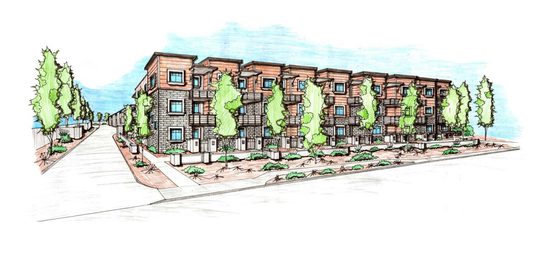 Rendering of the condo infill development set to go up near 52nd Street and Virginia Avenue.