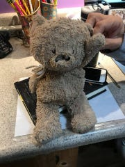Gina Horne Bernbaum came across a worn stuffed animal at Cactus Park in Scottsdale.