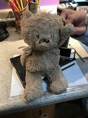 Gina Horne Bernbaum came across a worn stuffed animal at Cactus Park in Scottsdale.