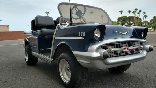Russo and Steele Collector Automobile Auctions will auction off a 1994 Club Car Golf Cart on Thursday, with proceeds benefiting the family of fallen Salt River tribal officer Clayton Townsend.