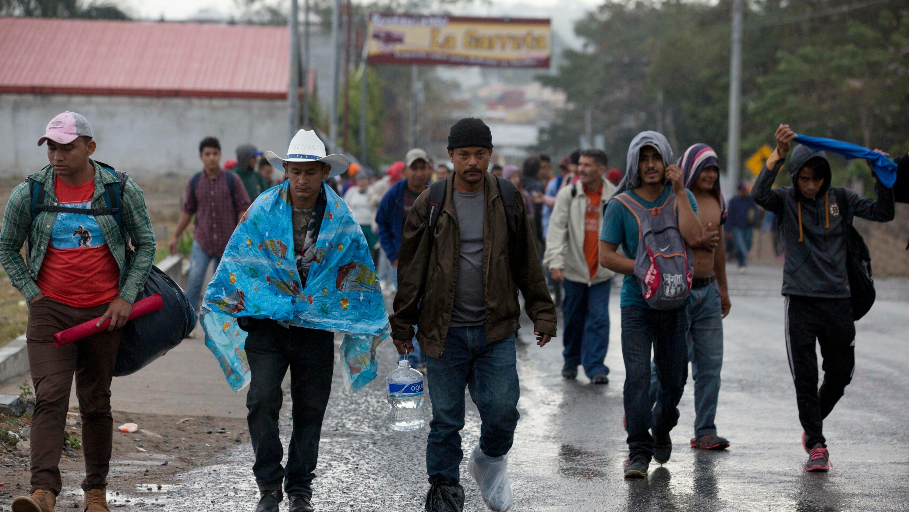Why do migrant caravans start in Honduras?