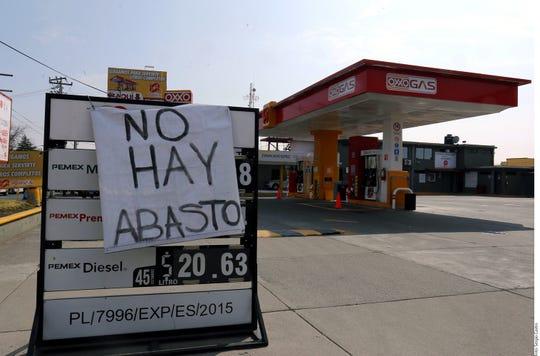 La Asociación de Distribuidores de Gasolina y Lubricantes (Adigal) reportó hasta este martes una pérdida de 850 millones de pesos en el Estado de México por el desabasto de combustible.