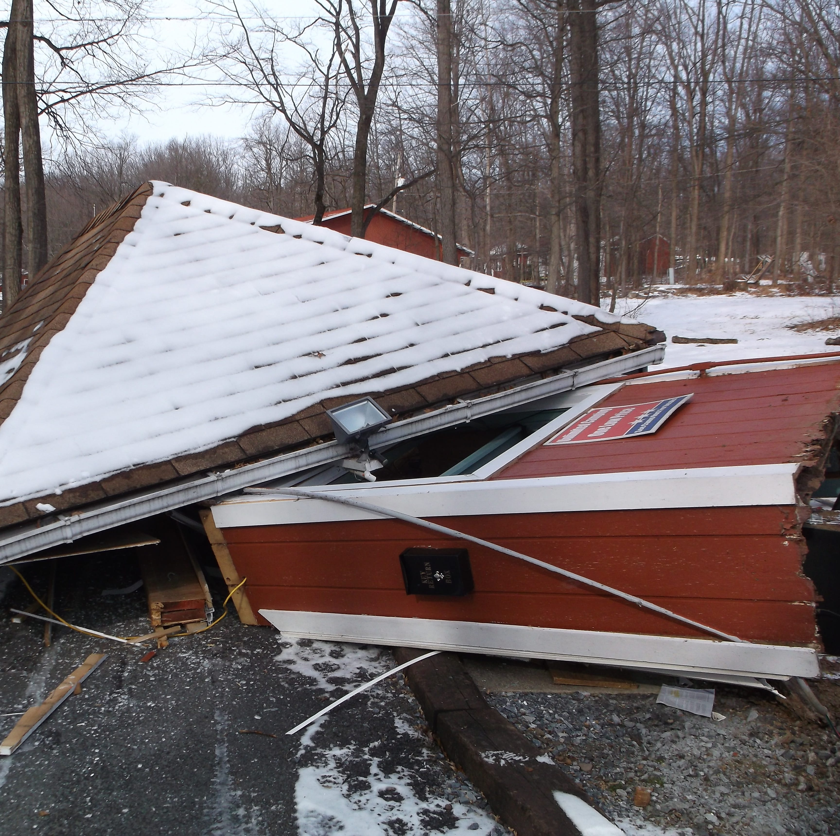 Hit-and-run tractor-trailer destroys guard house at PA Dutch Country RV Resort