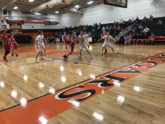 Palmyra and Annville-Cleona resumed their once intense boys basketball rivalry on Wednesday night, with the Cougars grabbing the win, 57-46