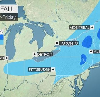 First half of snowy end of week to taper off by dawn Friday