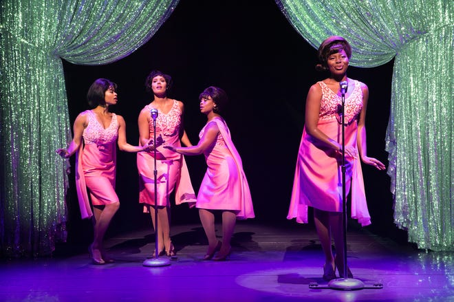 Rochester native DeAnne Stewart, left, plays one of The Shirelles, along with McKynleigh Alden Abraham, Alexis Tidwell and Marla Louissaint.