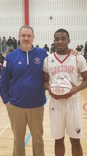 Monroe's Tyquil Glasgow scored his 1,000th point