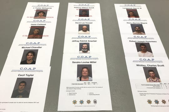 Shown are some of the offenders targeted in the new Chronic Offender Accountability Program. The crime-reduction initiative is cooperative effort between the Shasta County District Attorney's Office, the Shasta County Sheriff's Office and the Redding and Anderson police departments.