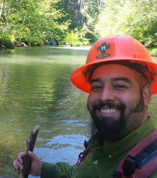 Jonas Parker, a hydrologist with the Bureau of Land Management, is on furlough during the partial federal shutdown.