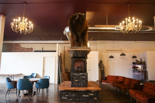 The Valkyrie Wine Tavern in Independence on Thursday, Jan. 16 2019. Owner Savannah Pearce built the fireplace herself.