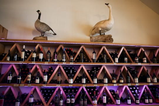 A wine display at The Valkyrie Wine Tavern in Independence on Thursday, Jan. 16 2019.