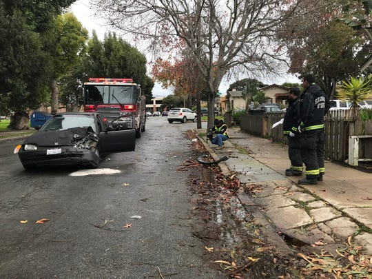 A crash occurred Thursday afternoon on Villa Street, between Archer and Park Streets.
