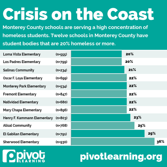 Figures of local schools provided by the Pivot Learning and National Center for Youth Law study.