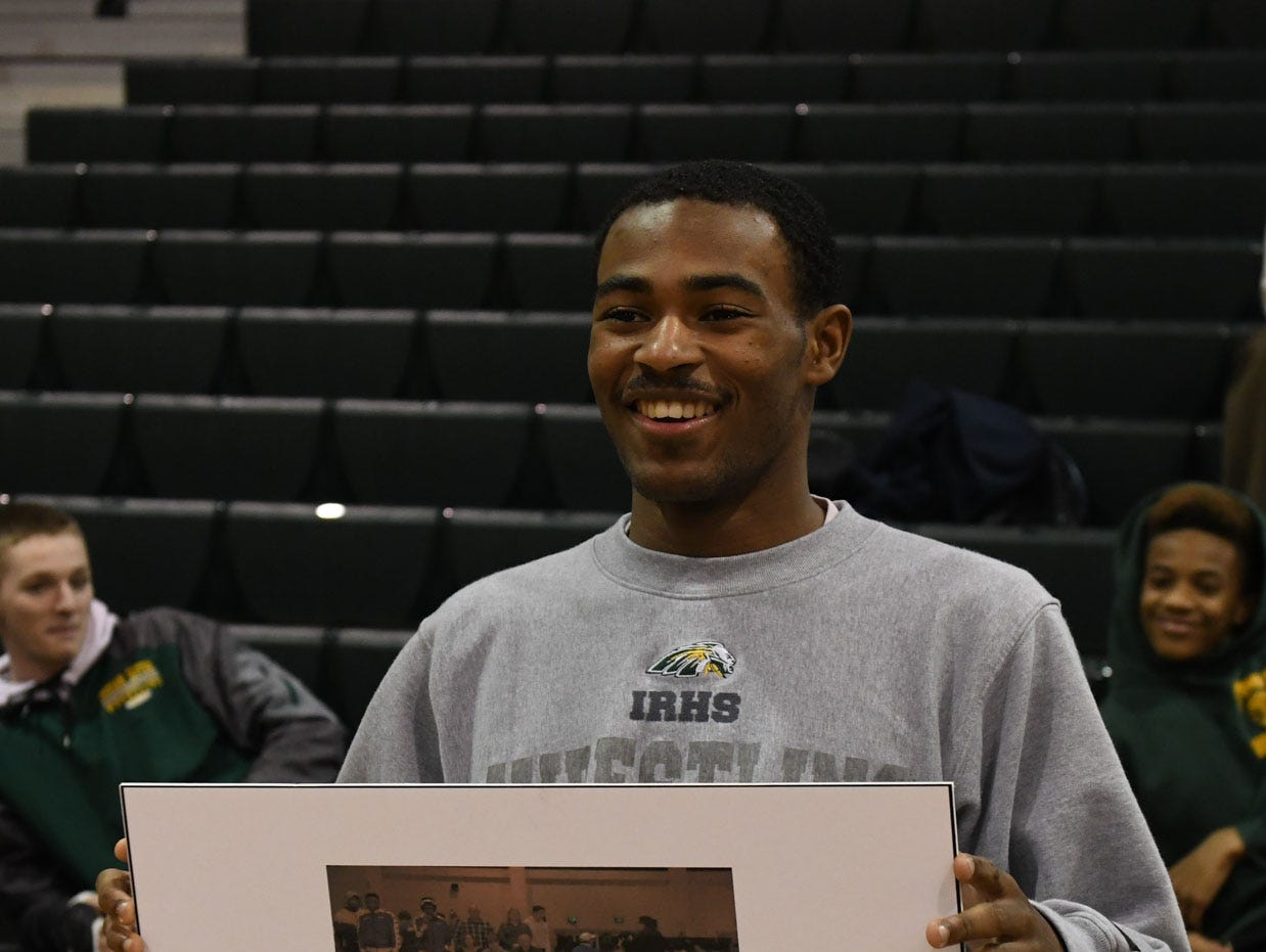 Ta'Jon Knight was honored before the match against Milford with his 100th win on January 11, 2019.