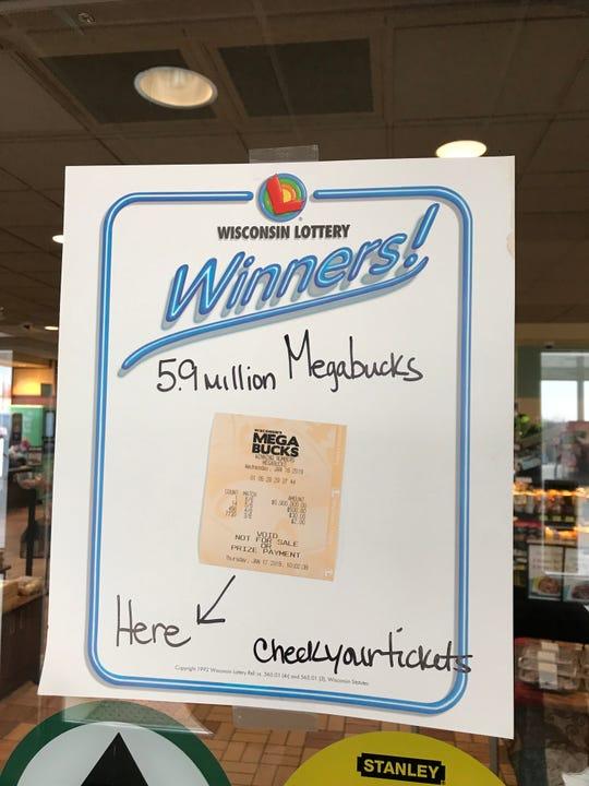 A Sheboygan Kwik Trip sold a winning lottery ticket in January 2019.