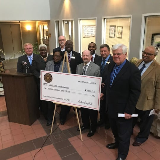 Louisiana Public Service Commissioner Foster Campbell awards $2 million in energy-efficiency grants to local governments and public institutions.