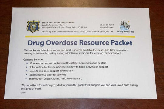 Minnehaha County Sheriff's Office and Sioux Falls Police Department are handing out drug overdose resource packets to families of those struggling with addiction.