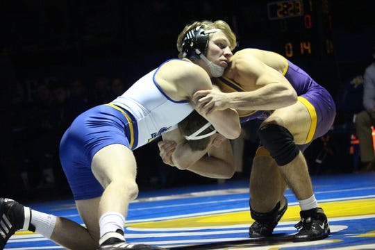Henry Pohlmeyer is one of SDSU's top wrestlers this season