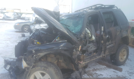 Penning's Jeep after the accident on Nov. 11.