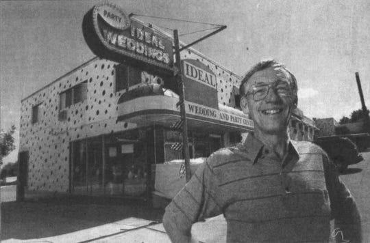 Gordon Hansen is shown outside the Ideal store in 2002.