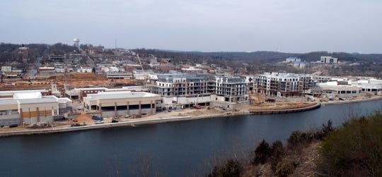 Construction on the Branson Landing project in downtown Branson, Mo., is shown in this Tuesday, March 7, 2006, photo.