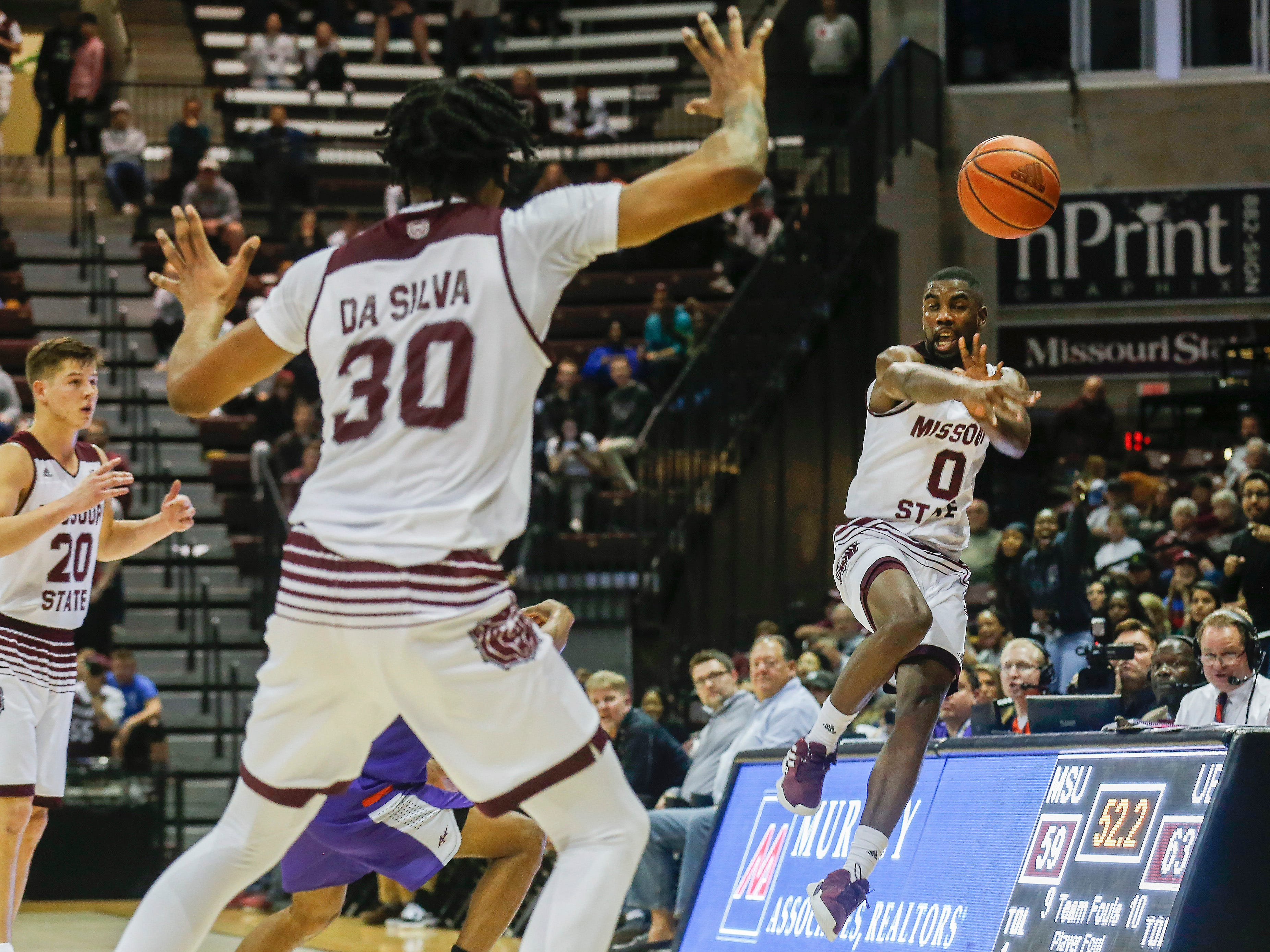 The Missouri State Bears fell to the Evansville Purple Aces 70-64 at JQH Arena on Wednesday, Jan. 16, 2019.