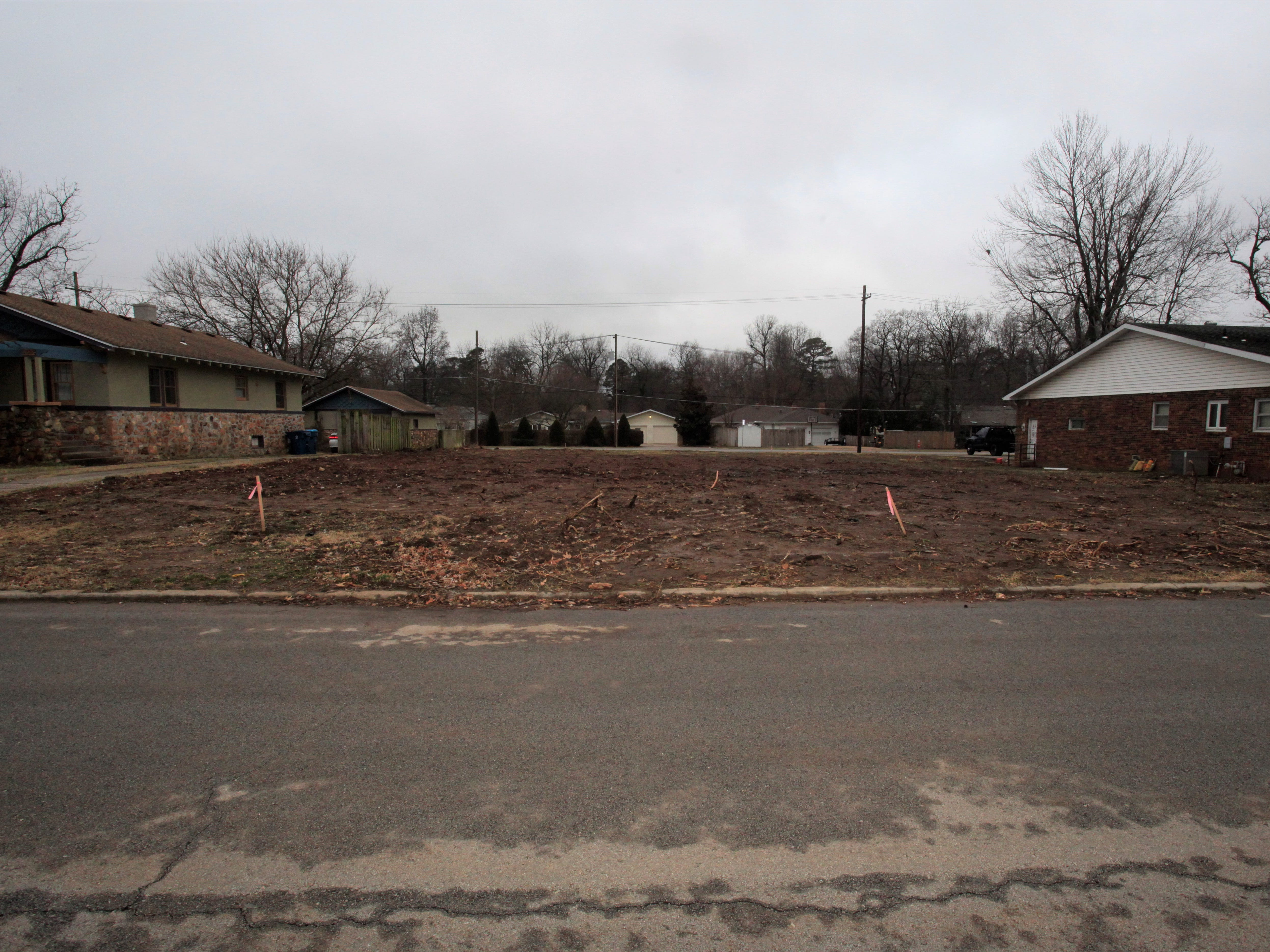 Property at 1325 S. Maryland Ave. was cleared late last year. Further development has been halted for now.