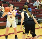 The final minute of the Cougars' 42-40 victory Wednesday night over the Bison in Shenandoah District girls basketball action.