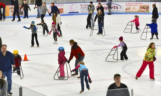 The Dave Torrey Arena at the Municipal Athletic Complex was crowded with ice skaters during an open skating time in this file photo.