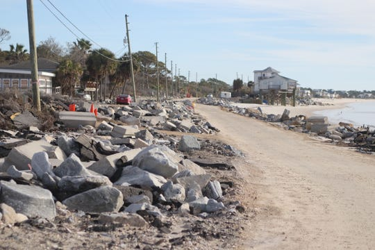 Alligator Drive remains in disrepair after two hurricanes, Hermine and Michael, since 2016. Repair estimates range from $4.5 million to $7.5 million. To fix the road would require a match from the county, about $625,000. That's money the county doesn't have and doesn't have the tax base to raise.