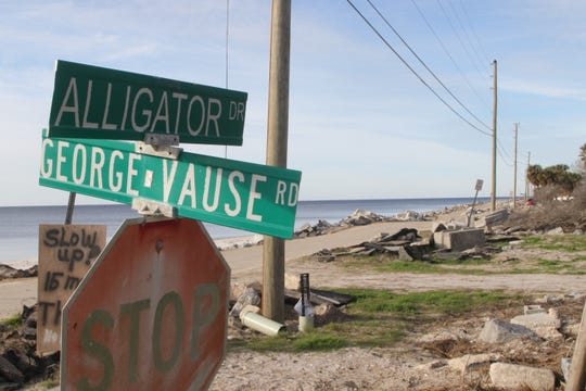 Franklin County is working to figure out the best solution to repairing Alligator Drive after two hurricanes, Michael and Hermine, left it in shambles. One option is to move the road inland.