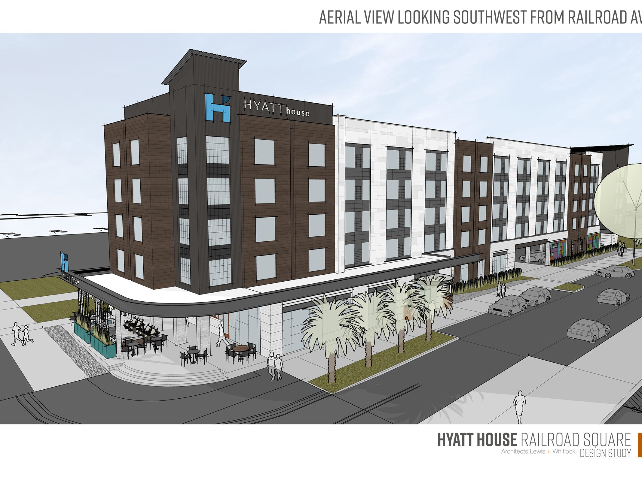 Charleston, South Carolina-based developer Mountain Shore Properties is building a five-story hotel and a retail space.