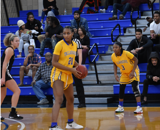 TCC forward Jada Perry scored 10 points and collected 6 rebounds versus Northwest Florida State College.