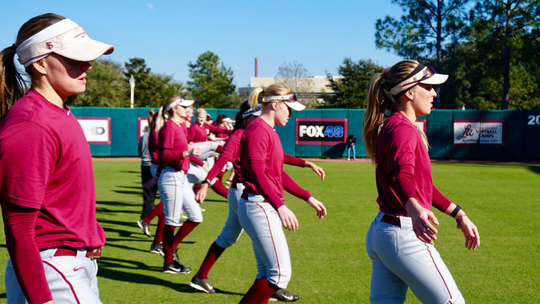 Shortstop Cali Harrod (left) and first baseman Carsyn Gordon (right) lead the Seminoles through their first preseason practice.