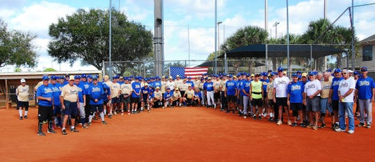 Opening Day of Jupiter's Senior Softball Winter League drew a crowd of more than 180 players and a record 14 teams. Games are every Monday, Wednesday and Friday mornings at Jupiter Community Park.