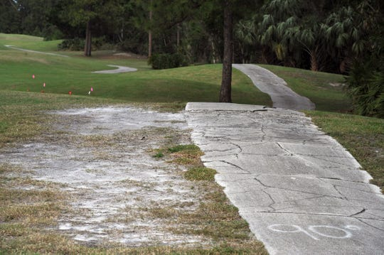 Areas in need of repair and renovation are shown Wednesday, Dec. 21, 2016, at the Martin County Golf Course in Stuart. In May, TCPalm found state municipal golf courseslost$100 million in the last five years, promoting some city leaders to re-examine the investments.