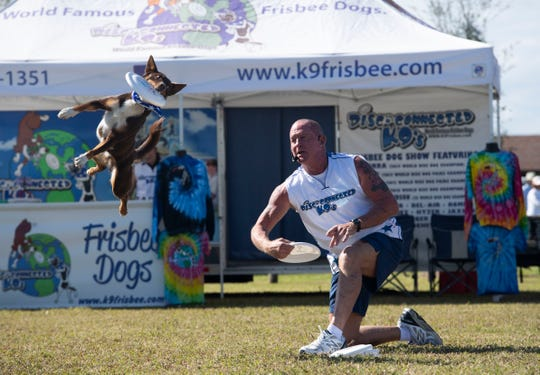 Bark in the Park is 10 a.m. to 4 p.m. Saturday at Riverside Park, 3200 Riverside Park Drive, Vero Beach. The free event features the Disc-Connected K-9 Frisbee team, the lure and dog agility courses, a demonstration by the Sheriff's Office K-9s, food trucks and children's activities.