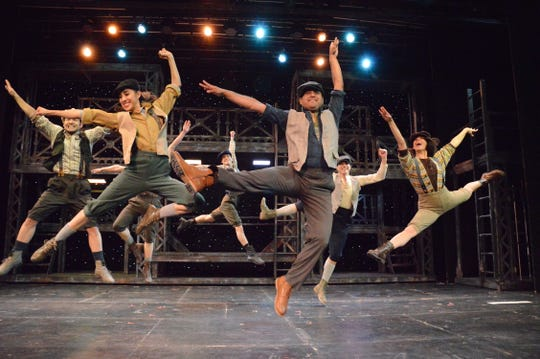 """The Disney musical """"Newsies"""" features both men and women in the cast as the newsboys."""