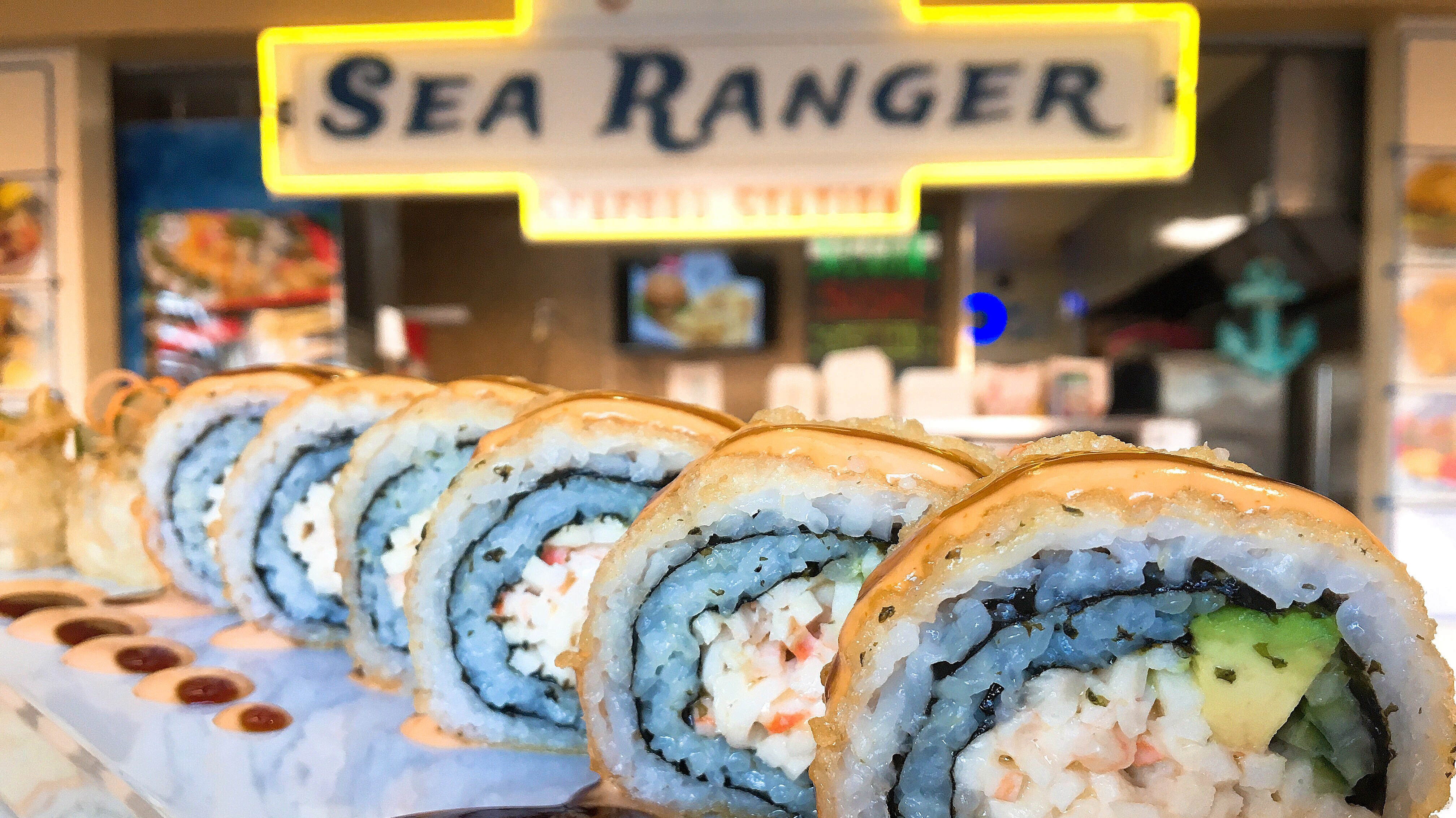 The Golden California Roll is part of the new vegan sushi menu at Sea Ranger Seafood Station in Ventura.